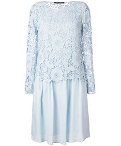 Luisa Cerano | Lace Pleated Dress 42 Cotton