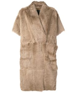 Blancha | Пальто Из Меха На Пуговицах