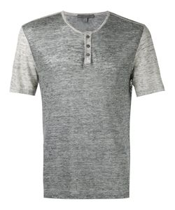 John Varvatos | Button-Up T-Shirt Small