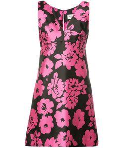 Milly | Print V-Neck Dress 4 Polyester/Spandex/Elastane