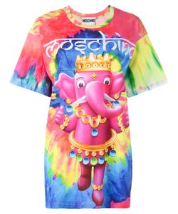 Moschino | Crowned Elephant Tie-Dye T-Shirt Small Cotton