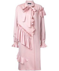 ANNA OCTOBER | Ruffled Midi Coat Medium Cotton