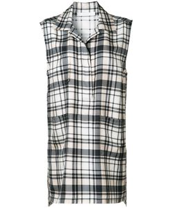 Victor Alfaro | Plaid Sleeveless Shirt 8 Silk