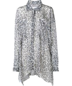 Faith Connexion | Leopard Print Asymmetric Shirt Small Silk