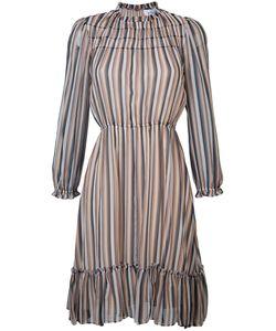 Derek Lam 10 Crosby | Gathered Detail Striped Dress