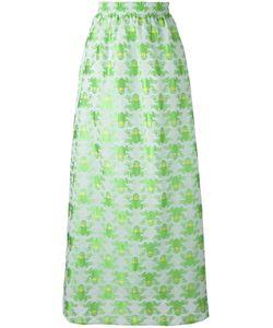 Ultràchic | Frog Print Maxi Skirt 40 Cotton/Acetate