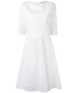 Jil Sander | Wrinkle Effect Fla Dress 36 Cotton/Polyester
