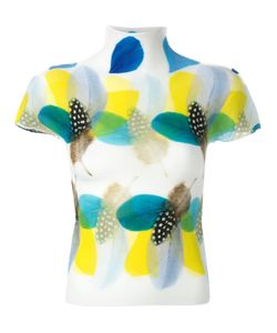 Issey Miyake Cauliflower | Feather-Print Knitted Top