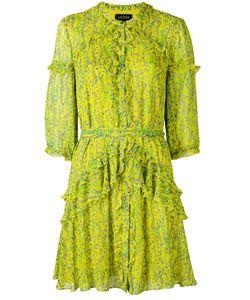 Saloni | Printed Frill Dress 10
