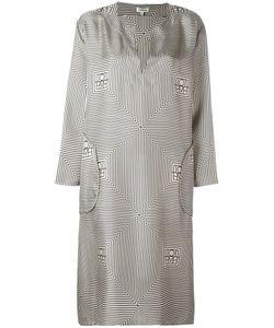 Toteme | Long Monogram Print Dress Small Silk