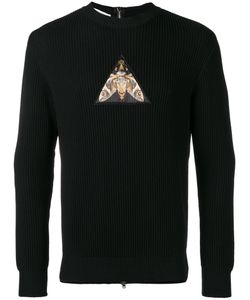 Givenchy | Patch Zipped Back Sweatshirt Large Cotton/Polyester