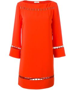 Versace Collection | Perforated Detail Shift Dress 42 Polyester/Viscose