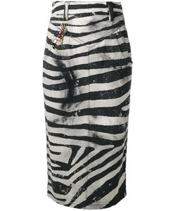Marc Jacobs | Zebra Embroidered Pencil Skirt Size 28
