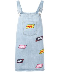 Au Jour Le Jour | Dungaree Patch Dress 42 Cotton/Polyester