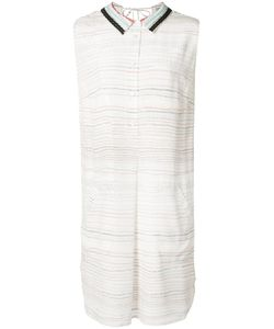 Grey Jason Wu   Printed Text Shirt Dress