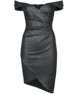 Nicole Miller | Платье С Открытыми Плечами И Присборенной Отделкой