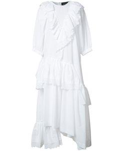 Simone Rocha | Ruffled Asymmetric Dress 10 Cotton