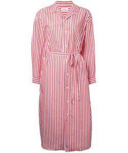 En Route | Striped Midi Shirt Dress