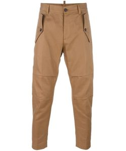 Dsquared2 | Drop Crotch Carrot Trousers 44 Cotton/Linen/Flax