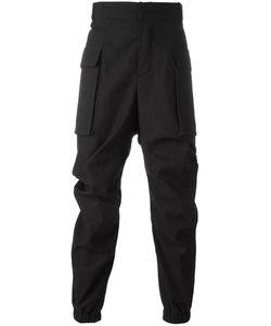 MOOHONG | Draped Track Pants 46 Cotton/Linen/Flax