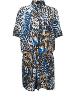 Barbara Bui | Printed Drawstring Shirt Dress