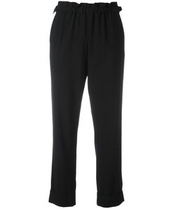 Giorgio Armani | Elasticated Hem Cropped Trousers 44 Virgin