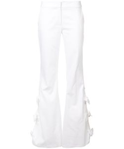 Alexis | Bow Applique Flared Trousers