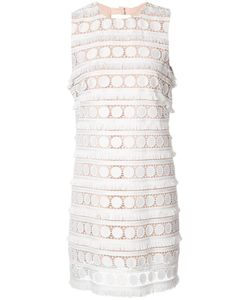 Nicole Miller | Broderie Anglaise Shift Dress 4 Polyester
