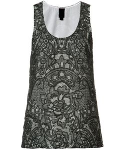 Vera Wang | Scoop Neck Tank Top 2 Cotton/Silk/Nylon