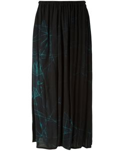 Y'S | Abstract Print Gathered Skirt