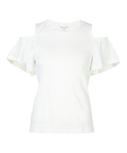 Rebecca Taylor | Cold-Shoulder Top Large Linen/Flax