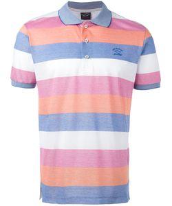 Paul & Shark | Striped Polo Shirt Size Large