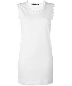 Love Moschino | Pom Pom Neck Dress 42 Cotton