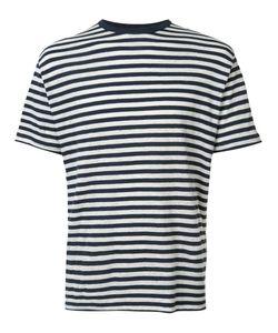 Officine Generale   Breton Stripe T-Shirt Xl Cotton/Linen/Flax