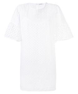 P.A.R.O.S.H. | P.A.R.O.S.H. Perforated Wide Sleeve Dress