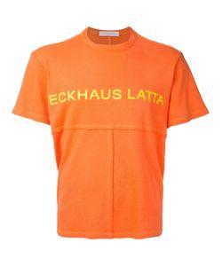 ECKHAUS LATTA | Футболка Лоскутного Кроя С Принтом-Логотипом