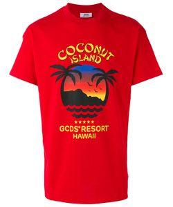 Gcds | Coconut Island T-Shirt Xs Cotton