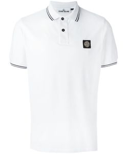 Stone Island | Logo Patch Polo Shirt Medium Cotton/Spandex/Elastane