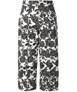 MSGM | Print Cropped Trousers 44 Cotton/Linen/Flax/Polyester