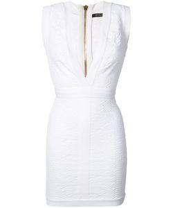 Balmain | Мини-Платье С Глубоким V-Образным Вырезом