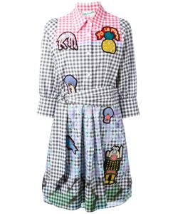 Peter Pilotto | Embroidered Patch Checked Dress Size 12