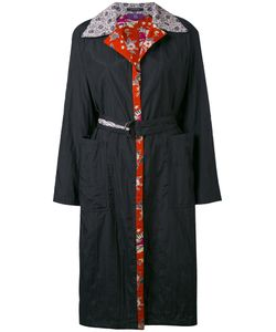 Y'S | Printed Lining And Collar Coat