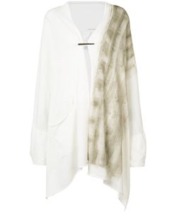Isabel Benenato | Hand-Painted Draped Knit Cardigan/Scarf