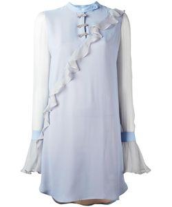 Marco De Vincenzo | Pleated Trim Dress 40 Silk
