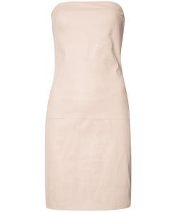 THE PERFEXT | Theperfext Fitted Dress Medium Leather