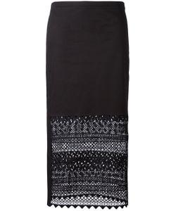 No21 | Macramé Detail Straight Skirt