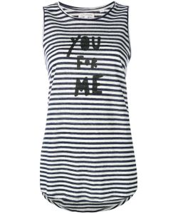 Chinti And Parker | Striped Slogan Tank Top