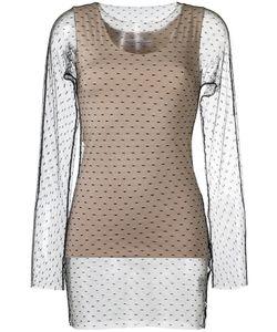 GLORIA COELHO | Sheer Panel Blouse Womens Size P Polyamide