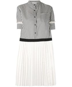 Moncler | Short Sleeved Striped Pleated Dress
