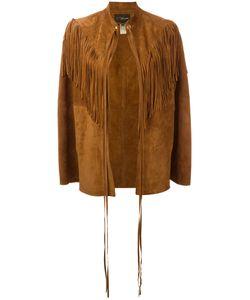 Manokhi | Fringed Trim Jacket Calf Leather